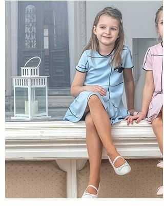Elegancka sukieneczka w kratę 116-152 P-141/viw niebieska
