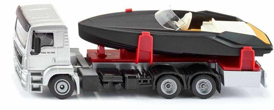 Siku S2715, Super, Ciężarówka Man Lkw Z Motorówką S2715 ,kolorowy