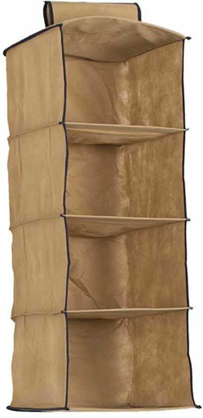Organizer wiszący do szafy 4 częściowy beżowy 30 x 30 x 84 - Beżowy