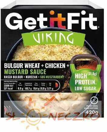 Kasza bulgur z kurczakiem i z sosem musztardowym 420 g GetItFit