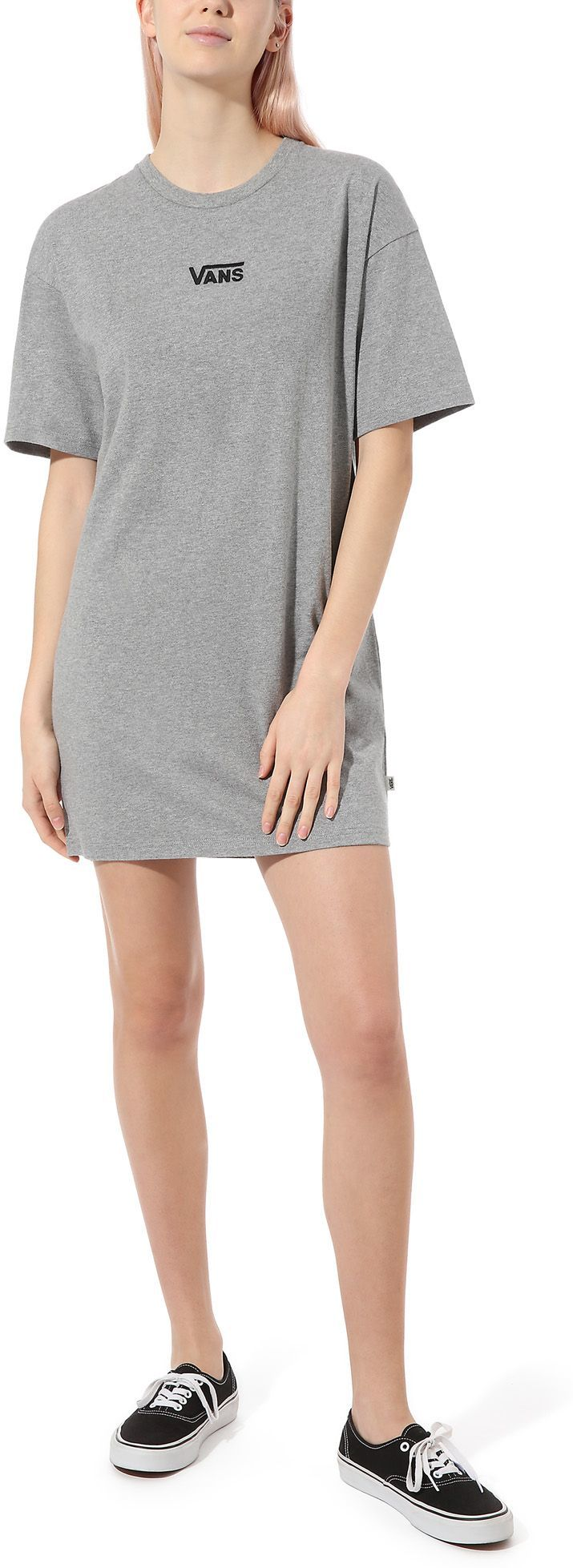 sukienka damska VANS CENTER VEE TEE DRESS Grey Heather