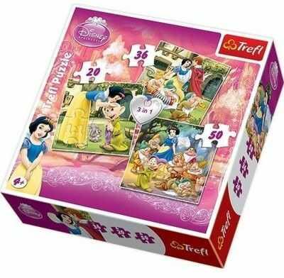Puzzle TREFL 3 w 1- Królewna Śnieżka