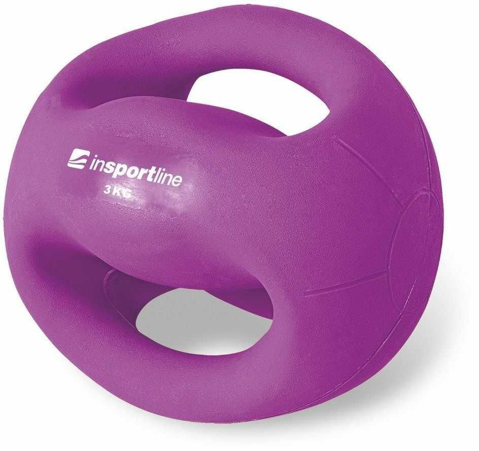 Piłka lekarska z uchwytami 3 kg Grab - Insportline