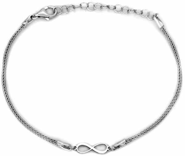 Srebrna bransoletka 925 gruba z nieskończonością 2,02g