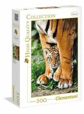 Puzzle Clementoni 500 - HQ - Tygrysek Bengalski, Bengal Tiger Cub