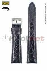 Pasek do zegarka Bros 8134/80/20 - krokodyl, ciemny granat