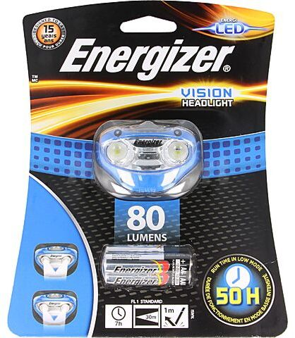 Latarka czołowa LED ENERGIZER VISION 7h 80lm Kolor niebieski