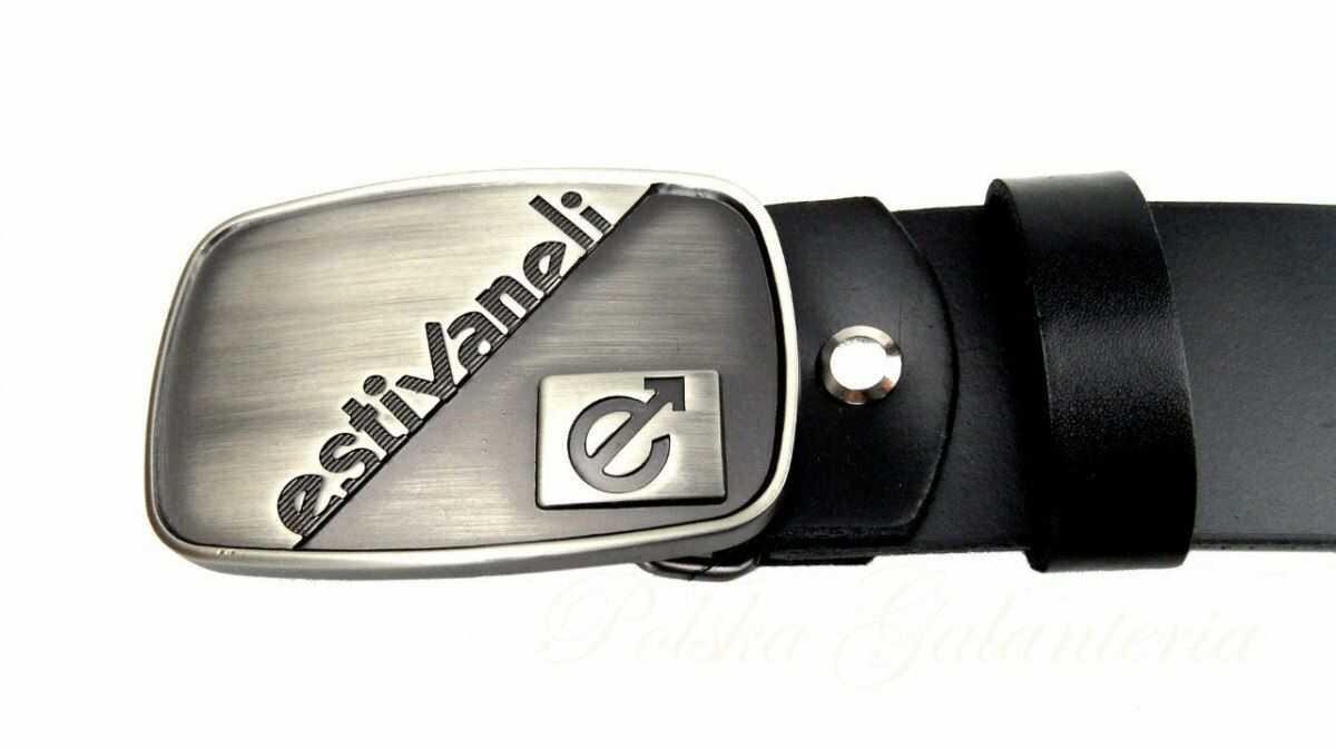 """Pasek Skórzany COMEX Skóra Licowa 40 mm Klamra Pełna na Bolczyk BLASZKA """"estivaneli"""""""