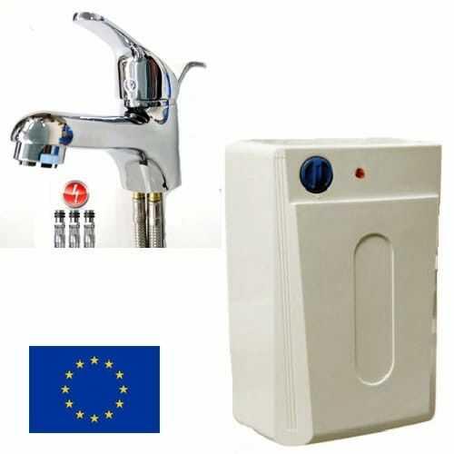 Elektryczny pojemnościowy ogrzewacz wody podumywalkowy FOX 5L +bateria umywalkowa