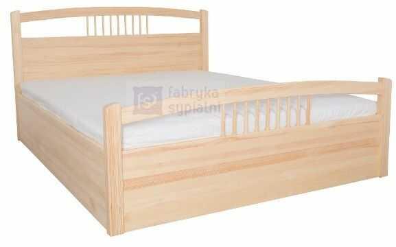 Łóżko Nefryt 5 z pojemnikiem na pościel