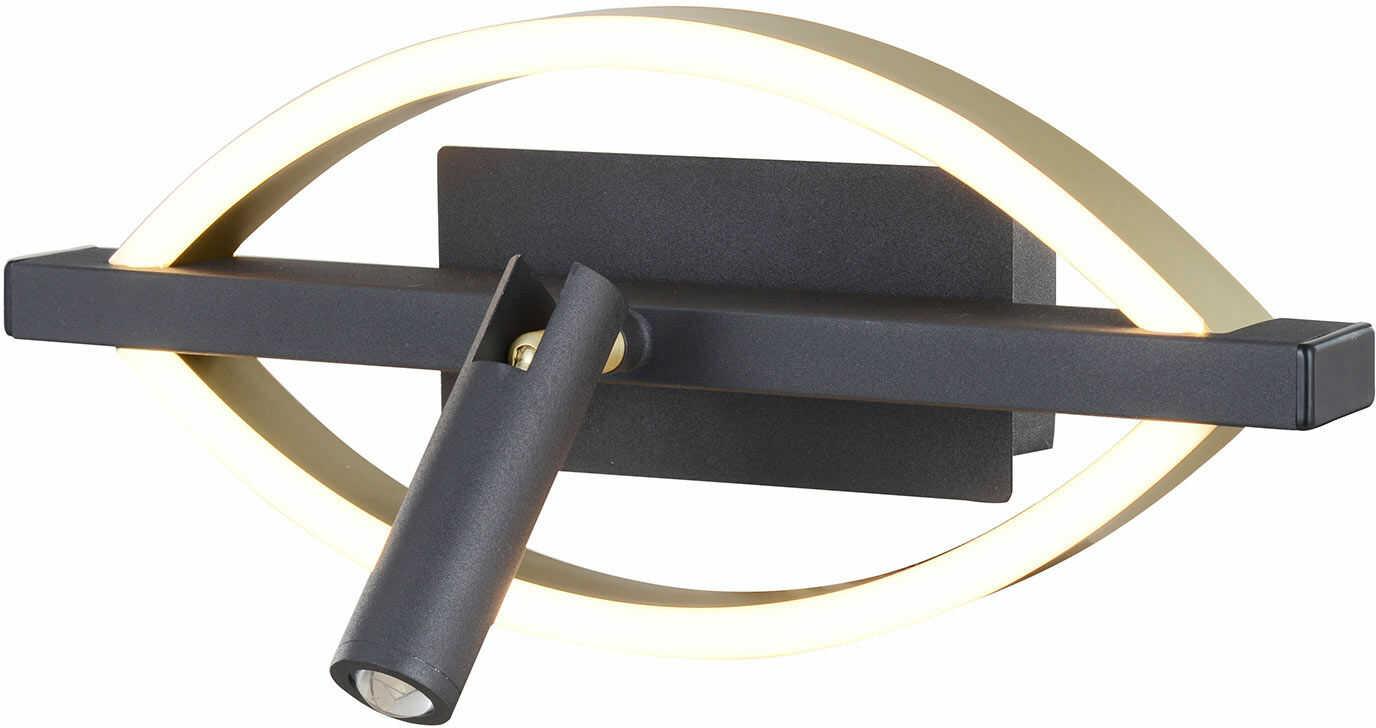 Lucande Matwei kinkiet LED, owalny, mosiądz