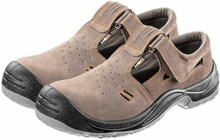 Sandały robocze zamszowe S1 SRC rozmiar 47 82-080-47