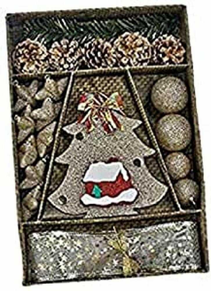 Zestaw dekoracyjny złoty brokat z pinetą
