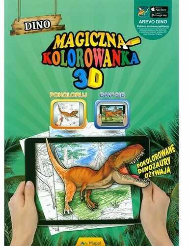 Dino, magiczna kolorowanka 3D ZAKŁADKA DO KSIĄŻEK GRATIS DO KAŻDEGO ZAMÓWIENIA