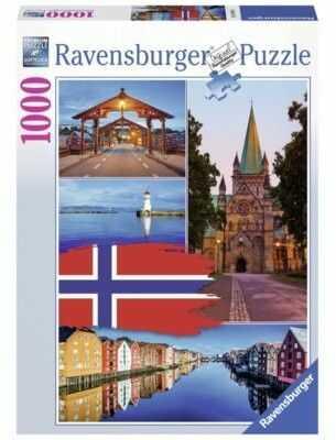 Puzzle Ravensburger 1000 - KOLAŻ TRONDHEIM