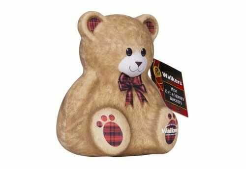 Miś Walkers Teddy Bear Mini Oat & Honey Biscuits puszka 100g
