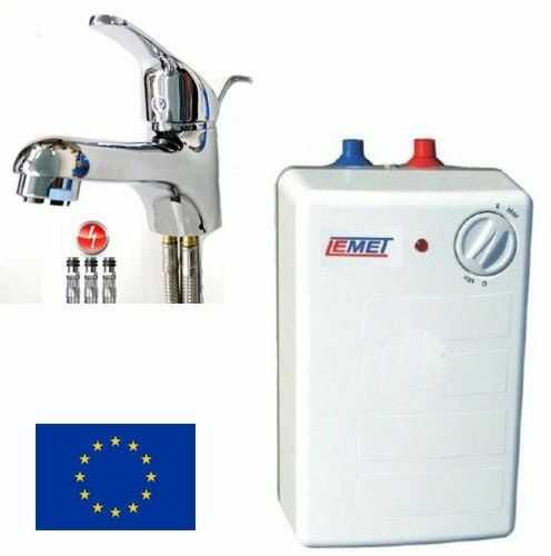 Podumywalkowy ogrzewacz wody 5L, Elektryczny, Regulacja temperatury +bateria umywalkowa