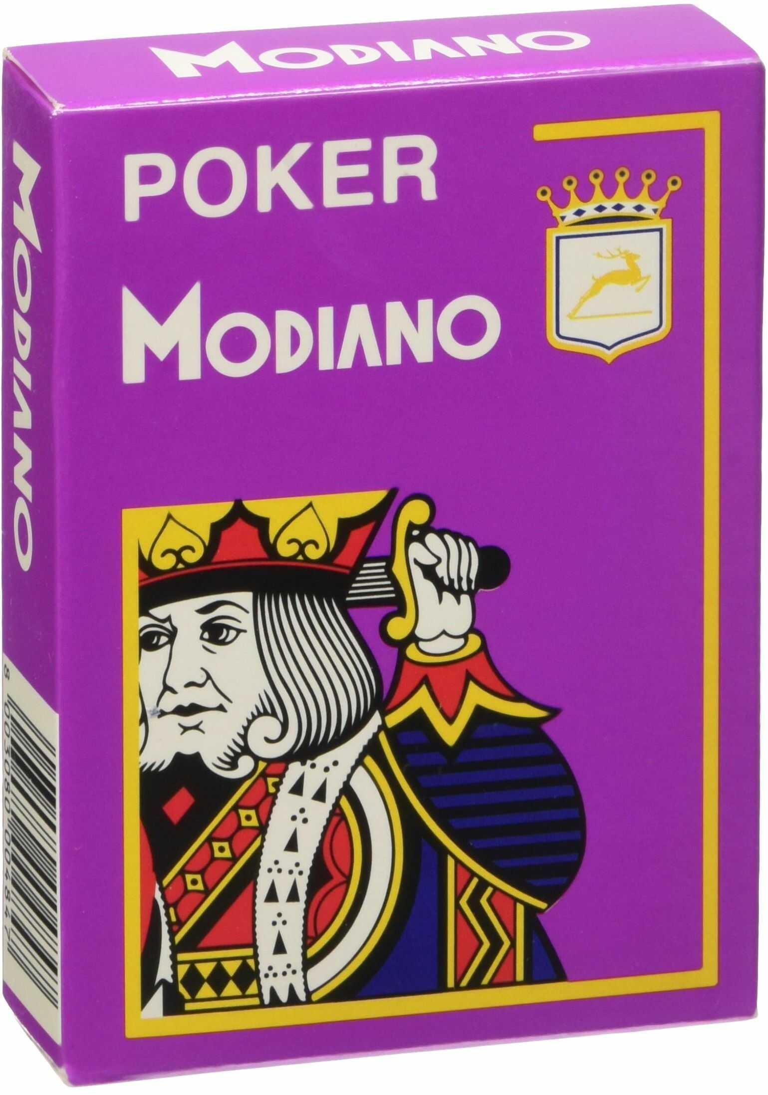 Modiano Cristallo 484  karty do gry w pokera, indeks 4, fioletowe