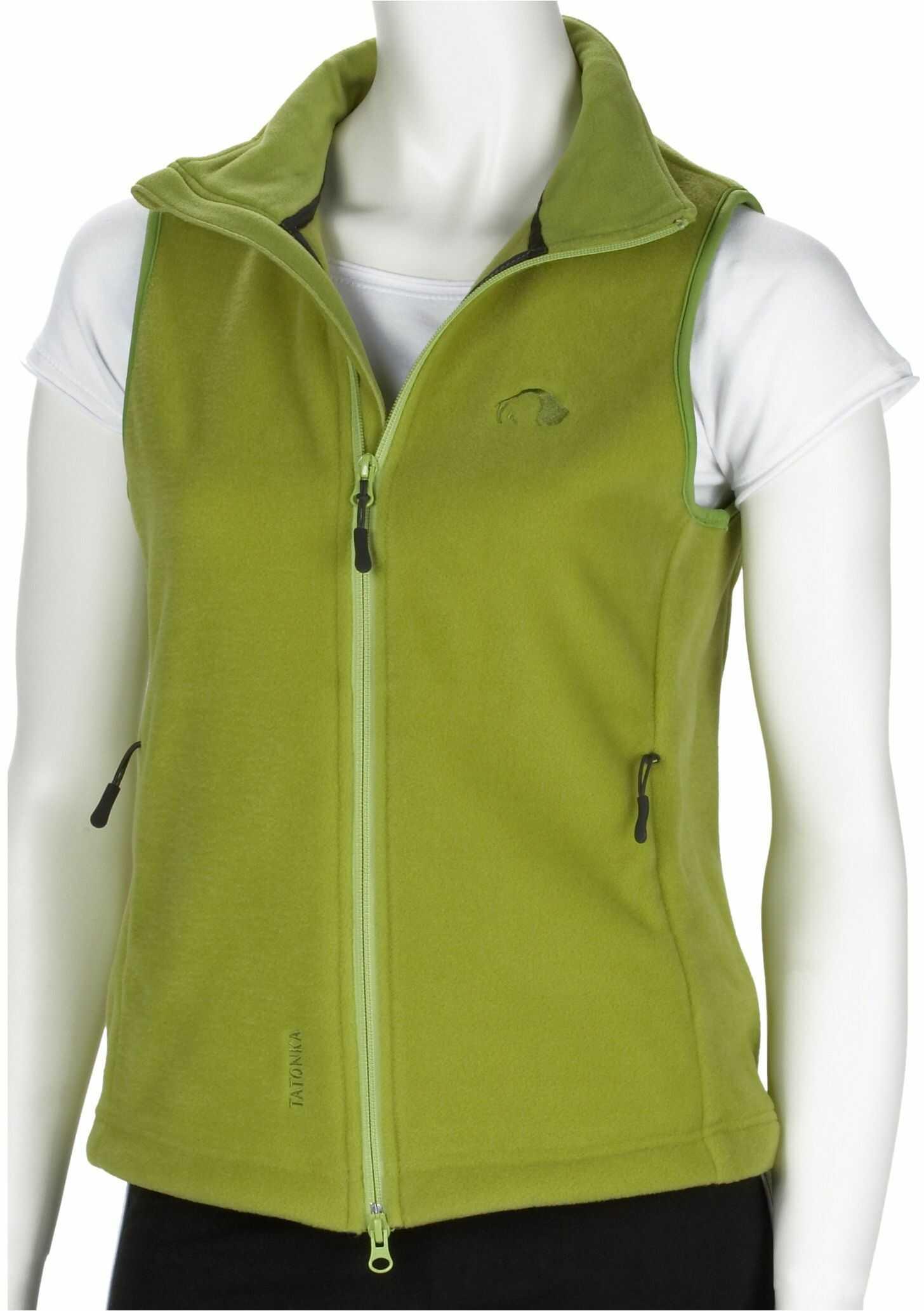 """Tatonka Essential damska kamizelka polarowa""""Montrose Lady Vest"""" z polaru, rozm. 36, zielona oasis"""