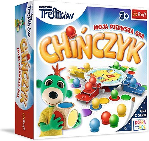 Trefl Chińczyk Moja Pierwsza Gra Planszowa z Bohaterami Bajki Rodzina Treflików dla Dzieci Powyżej 3 Lat