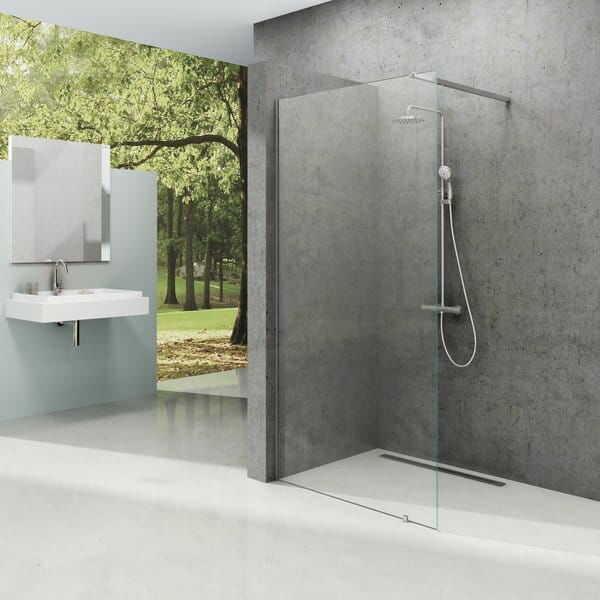 RAVAK ścianka wolnostojąca Walk In Wall 80 cm wys. 200 cm Polerowane aluminium + Transparent GW9W40C00Z1
