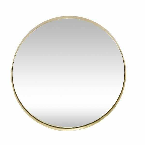 Hübsch OVAL Lustro Ścienne Okrągłe 40 cm Złota Rama