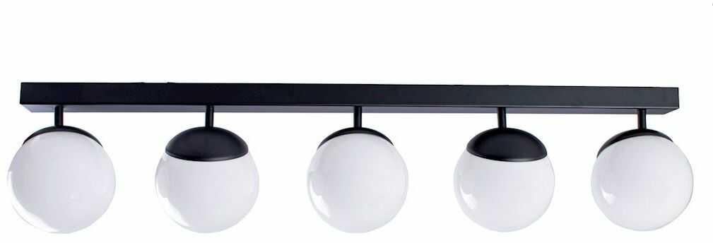 Milagro SFERA BLACK MLP8859 plafon lampa sufitowa czarna klosze kule szkło 5xE14 100cm