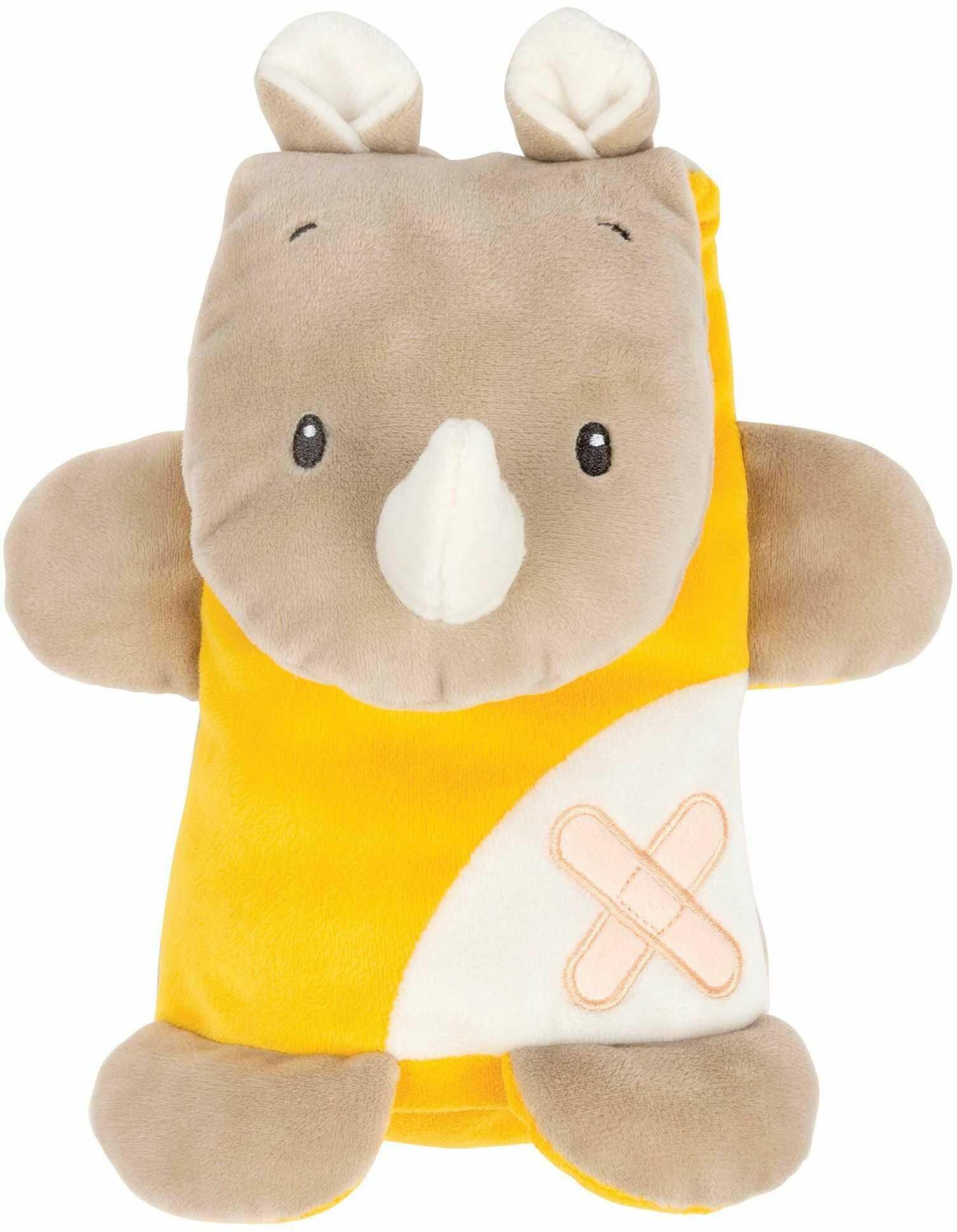 Nattou Aktywny przytulanka nosorożec, Buddiezzz, 22  18  9 cm, brązowy/żółty
