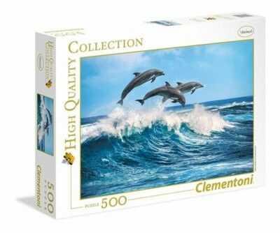 Puzzle Clementoni 500 - Delfiny, Dolphins