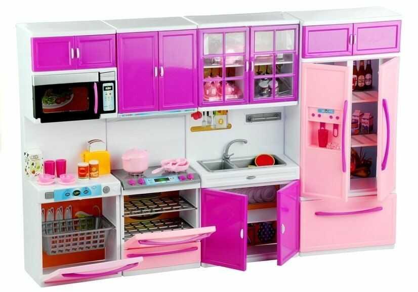 Kuchnia Dla Lalek Meble AGD Jedzenie Fiolet Róż