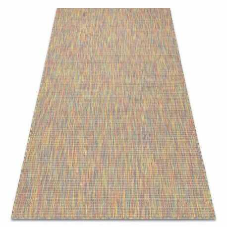 Dywan FISY nowoczesny, SZNURKOWY SIZAL 20789 melanż, tęcza, tęczowy 80x150 cm