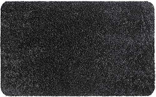 Aquastop mata wejściowa do wnętrz, z bawełny i poliestru, grafitowa, 50 x 80 cm