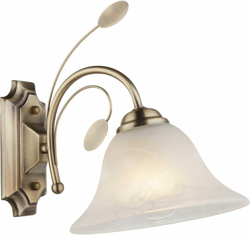 Globo POSADAS 69007-1W kinkiet lampa ścienna antyczny mosiądz 1xE27 19 cm