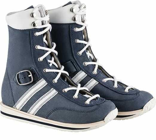 Wysokie buty Memo z głębokim sznurowaniem i paskiem dociągającym dla dzieci z MPD (SPRINT)