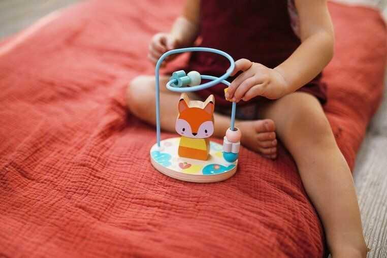 Pętla edukacyjna Lisek Pure J05151-Janod, zabawki rozwojowe