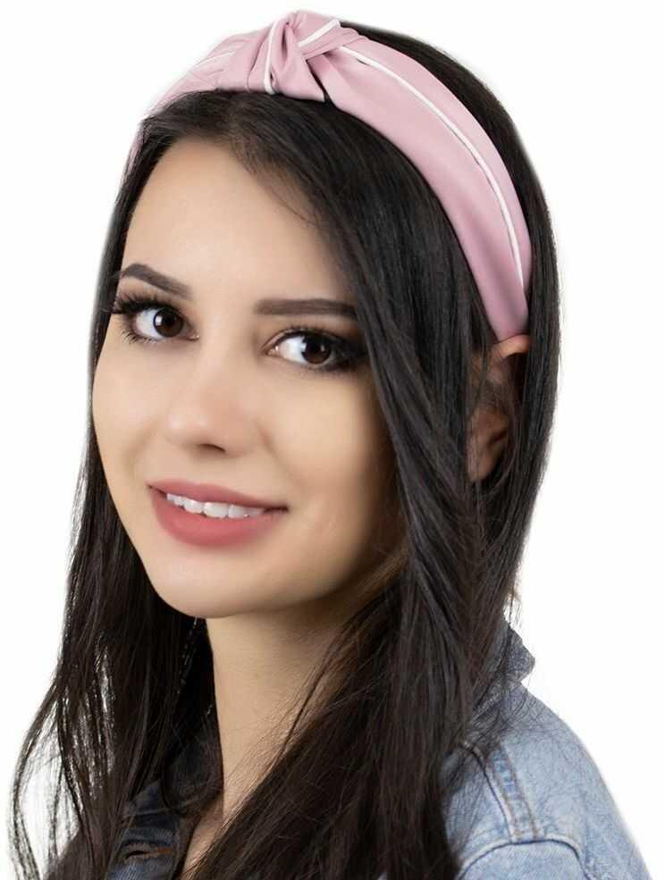 Opaska do włosów turban węzeł pin up różowa