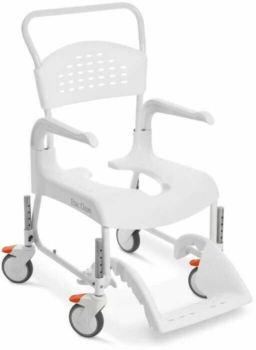 Wytrzymały wózek toaletowo-prysznicowy ETAC CLEAN