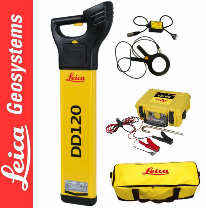 Wykrywacz instalacji DD120 Leica + Generator DA220 Leica + Klema indukcyjna + Torba transportowa