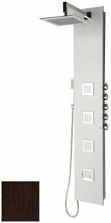 5SIDE SQUARE Panel prysznicowy z baterią 155x25 cm, wenge 80223