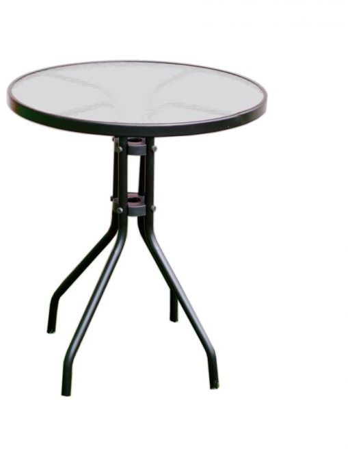 Stół ogrodowy z blatem szklanym ZWT-03 60 cm