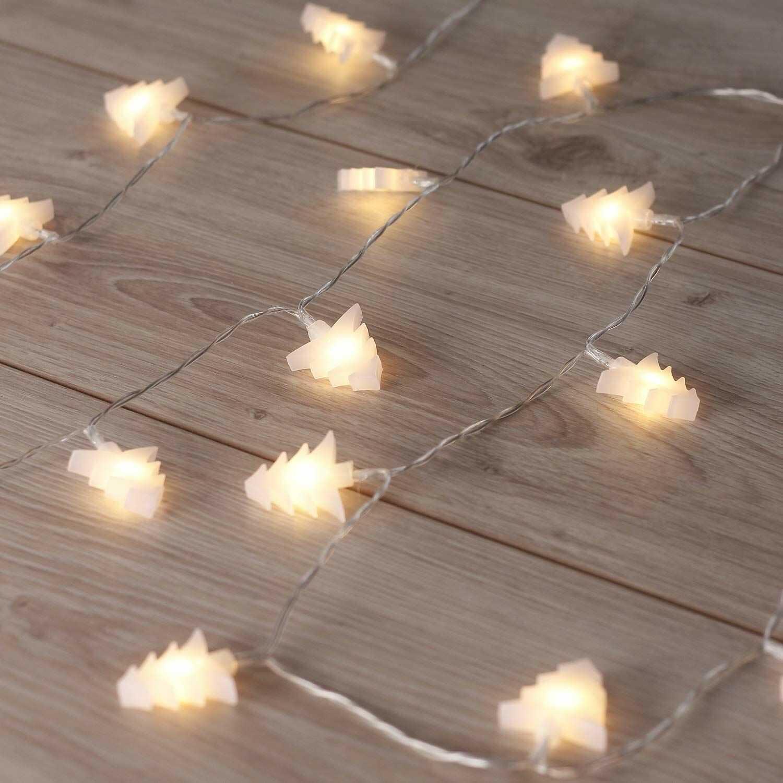 DecoKing Christina łańcuch świetlny z 20 diodami LED na srebrnym drucie, ciepła biel, statyczna girlanda LED, dekoracja ogrodowa