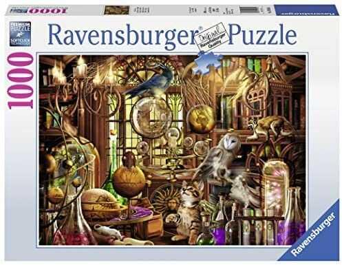 Puzzle Ravensburger 1000 - Labolatorium Merlina, The Magicians Study