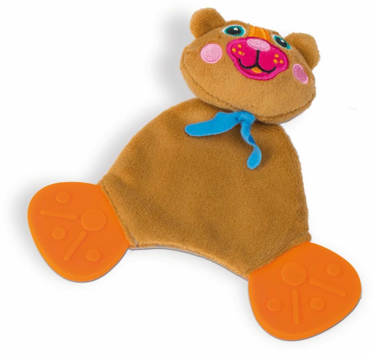 OOPS 10008.11 gryzak miękka kolekcja Easy-Doudou przyjaciele miś kołdra zabawka, wielokolorowa