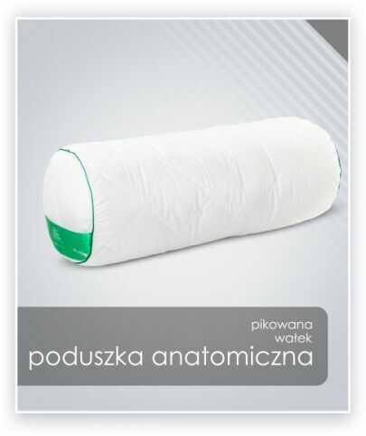 AMZ ANATOMICZNA (ortopedyczna) PODUSZKA (wałek) Bawełna 20x60