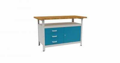 Stół warsztatowy slusarski metalowy STW 122 szeroki 120cm
