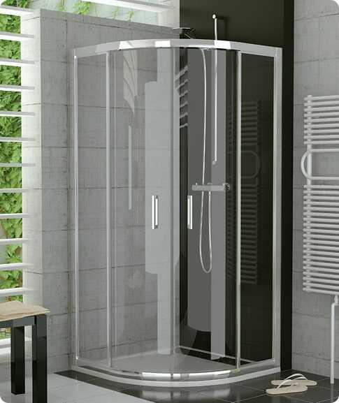 SanSwiss Top-Line TOPR Kabina prysznicowa półokrągła 100cm profil srebrny TOPR501000107