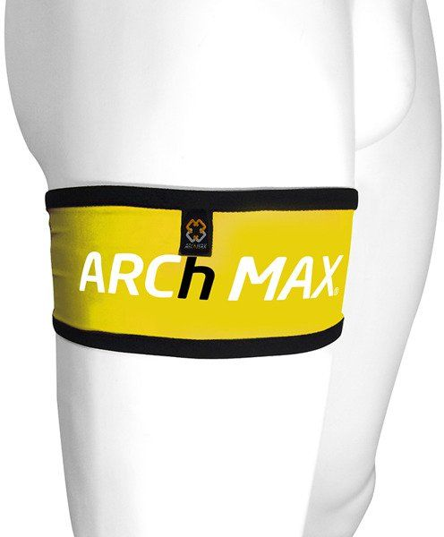 ARCH MAX Pas biegowy na udo QUADBELT żółty