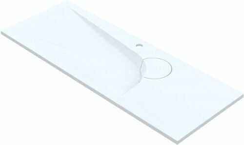 Umywalka 90x45 cm wpuszczane w blat z możliwością otworu na baterię, Boomerang