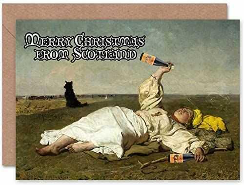 Wee Blue Coo Kartka modyfikacyjna Boże Narodzenie Boże Narodzenie Boże Narodzenie Chelmonski picie