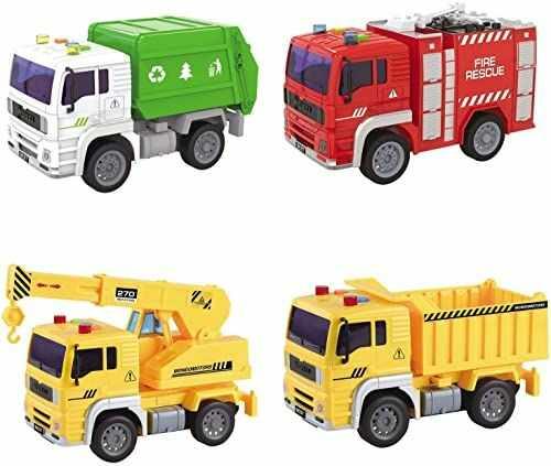 Mondo 51174 Motors  Friction Truck Assortment  ciężarówka ze sprzęgłem wstecznym dla dzieci, żółto-zielona